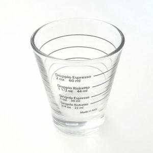 Shotglas met belijning voor ristretto en espresso